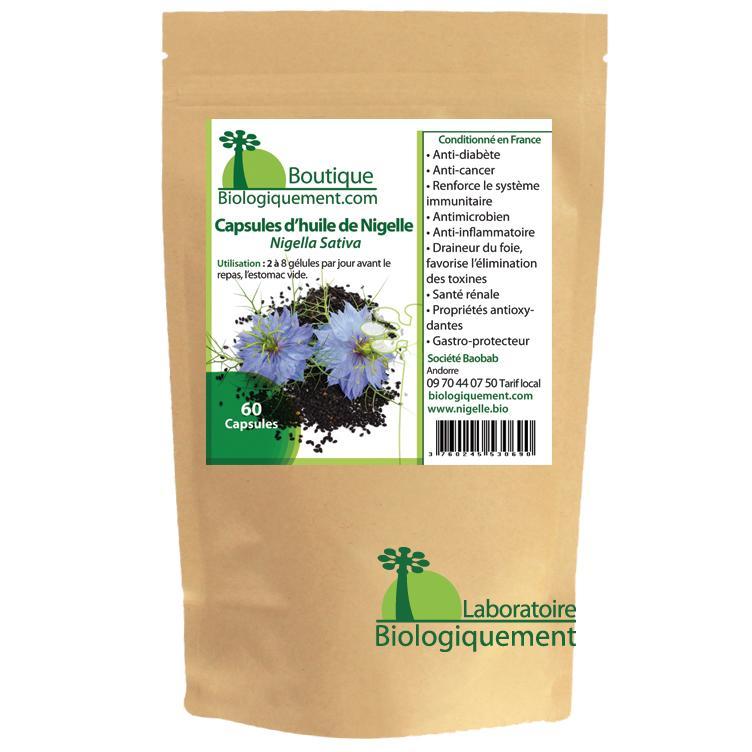 Acheter de l'huile de graines de nigelle bio sur la boutique Biologiquement.com