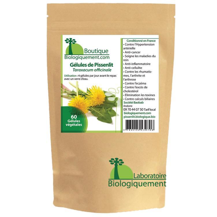 Acheter de la racine de pissenlit bio en gélules pour le traitement naturel du cancer par les plantes